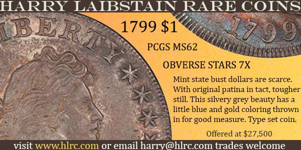 HLRC E-Sylum ad 2020-08-23 1799 Dollar