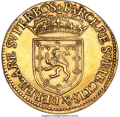 James VI gold 20 Pounds 1575 XF40 NGC_Hertage_Auctions_2