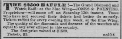 Jones, JT   RAFFLE Daily Alta California, Volume 3, Number 311, 10 November 1852