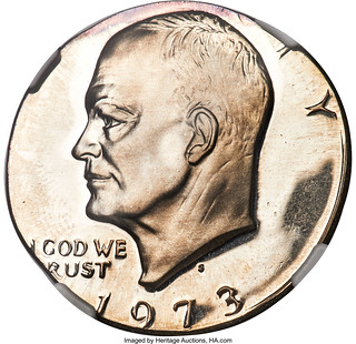 1973-S $1 Eisenhower Dollar -- Struck on a Half Dollar Planchet -- PR67 Cameo NGC_Heritage_Auctions