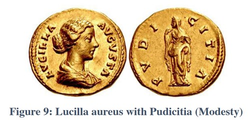 Lucilla aureus with Pudicitia (Modesty)
