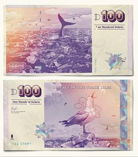 Trash Isles 100 Debris note