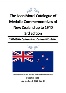 NEW ZEALAND commemorative medals 1939-40 book cover