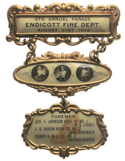 New York Triple Cities Firemen's Convention Badge