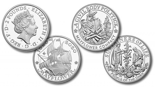 US-and-UK-400th-Anniversary-of-the-Mayflower-Voyage-Silver-Coin-and-Silver-Medal