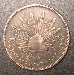 Samuel Milton Taylor Confederate treasury Mexican 8 reales obverse