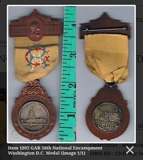 1892 GAR encampment badges