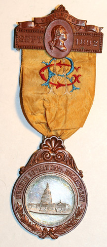 1892 GAR encampment badge