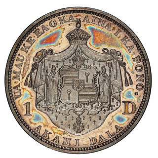 Hawaii_1883_One_Dollar reverse