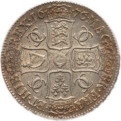 1676 Charles II Crown reverse