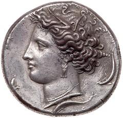 Syracuse. Dionysios I. Silver Decadrachm reverse