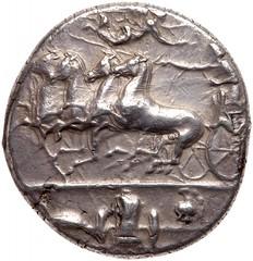 Syracuse. Dionysios I. Silver Decadrachm obverse