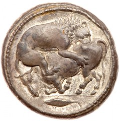 Macedonia, Akanthos. Silver Tetradrachm obverse