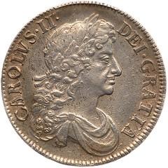1676 Charles II Crown obverse