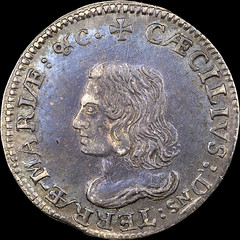 Lord Baltimore Sixpence obverse