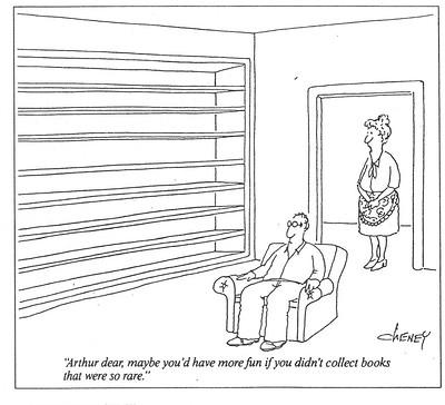 Cartoon. Collect books that aren't so rare