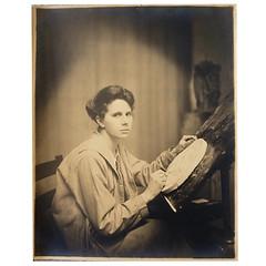 Laura Gardin Fraser Original Photo Working on the 1932 Washington Quarter Plaster Previously Unknown