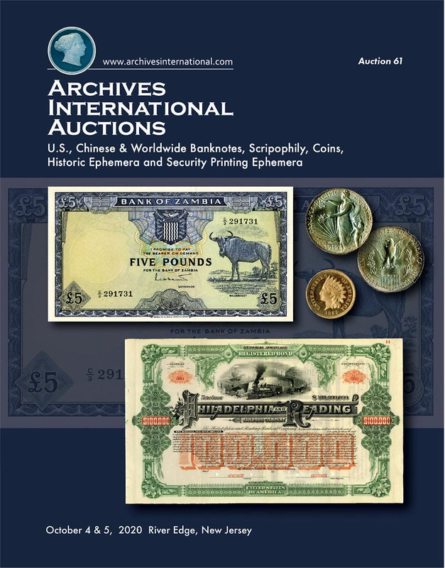 Archives International Sale 61 cover front