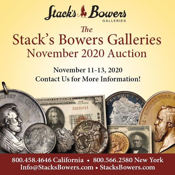 Stacks-Bowers E-Sylum ad 2020-09-06 2020-11 Consign2