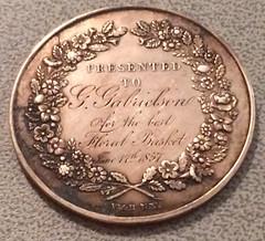 New York Horticultural Society medal reverse