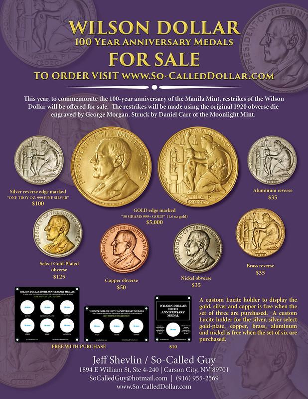 Shevlin E-Sylum ad 2020-10-04 Wilson Dollar