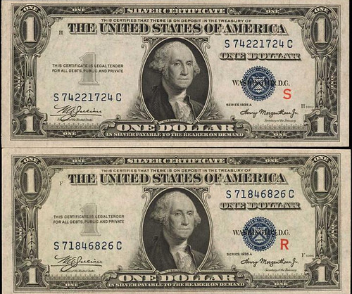 R and S Experimental Silver Certificates