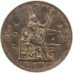 1903 Chopmarked Thailand Coin reverse