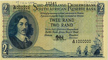 1959 South African Reserve Bank Specimen Note