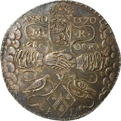 1621 Wedding token of Maarten Ruychaver