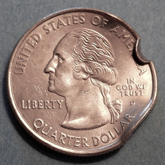 Dented 2008-D Hawaii State Quarter Obverse