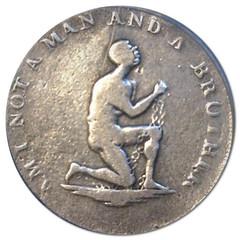 silver conder slave token DH-1039-A obverse