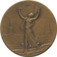 Lindbergh Major Bowes medal obverse