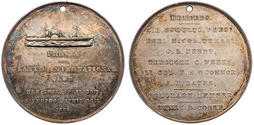 1864 ATLANTIC INTERNATIONAL CLUB MEDAL