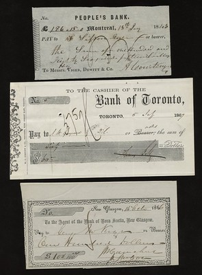 Don Allen Early Canadian Cheques