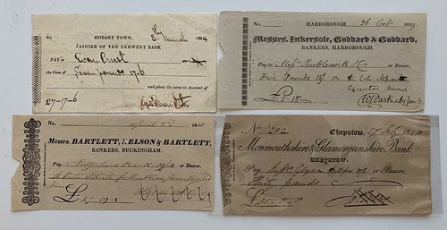Don Allen  Early Private Bank Cheques
