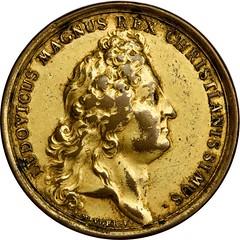 1693 Louis XIV Felicitas Domus Augustae Medal obverse