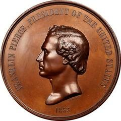 1853 Franklin Pierce Indian Peace Medal obverse