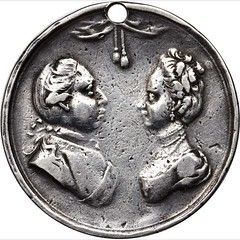 George III and Queen Charlotte Medal obverse