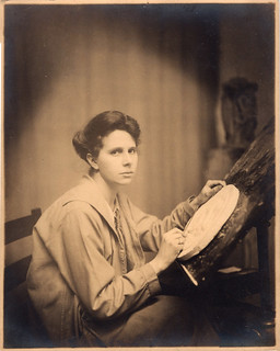 Original Photo of Laura Gardin Fraser Working on the Washington Quarter Plaster in 1931
