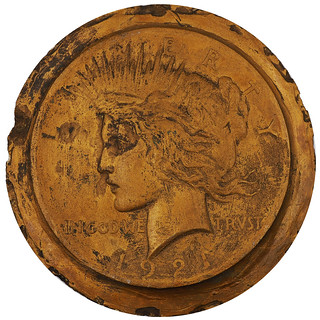 1921 Peace Dollar Obverse Plaster by Anthony DeFrancisci