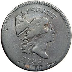 1795 HAlf Cent on Talbot planchet obverse