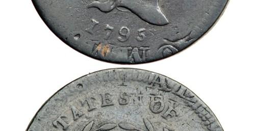 1795 HAlf Cent on Talbot planchet closeup