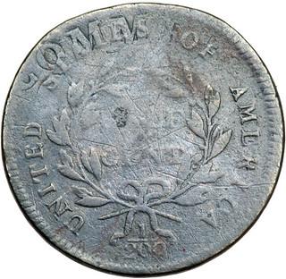 1797 Half Cent on Talbot planchet reverse