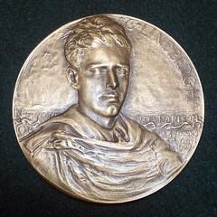 Lindberg Medal Type II Partly Hand Engraved obverse