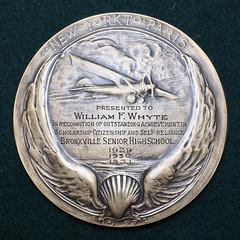 Lindberg Medal Type I Fully Hand Engraved reverse