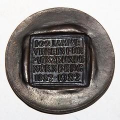 Verein für Münzkunde Nürnberg centennial medal reverse