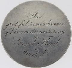 1875 Australia Bravery Award reverse