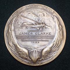 Lindberg Medal Type II Partly Hand Engraved reverse