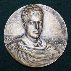 Lindberg Medal Type I Fully Hand Engraved obverse