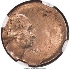 No_Date_25C_Silver_Washington_Quarter_40_Off_Center_Reverse_Brockage_AU58_NGC_Heritage_Auctions_2